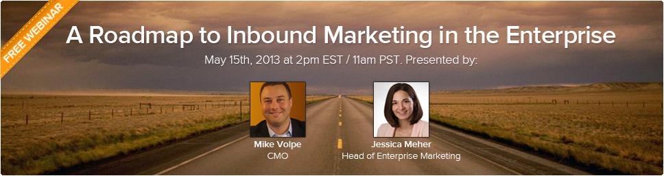 Free Webinar: A Roadmap to Inbound Marketing in the Enterprise