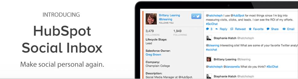 Introducing: HubSpot Social Inbox. Make social personal again.