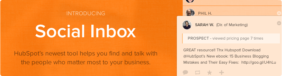 Introducing: HubSpot Social Inbox. Make social personal again.