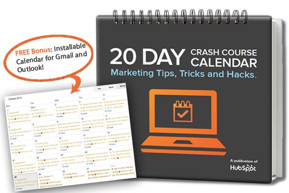 20 Day Marketing Calendar