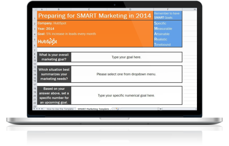 2014 Marketing Goals Template