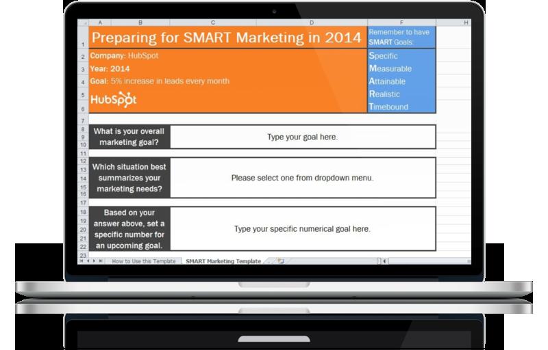2014 Marketing Goals Template