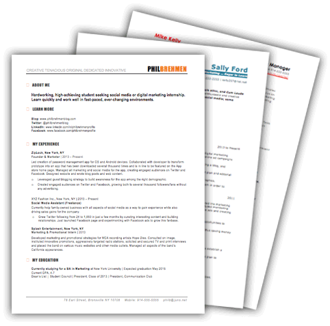 Marketing Resume Templates. Download ...  Resume Templates To Download