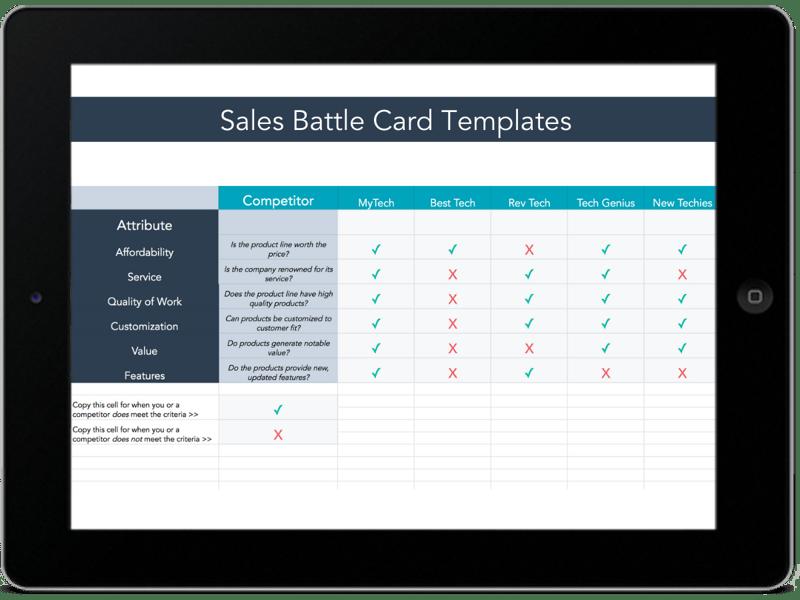 sales battle card templates