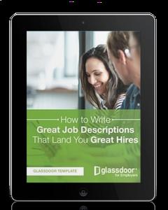 Glassdoor job descriptions ebook