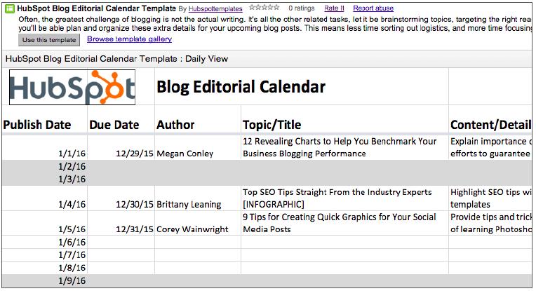2017 editorial calendar templates blog editorial calendar step one pronofoot35fo Gallery