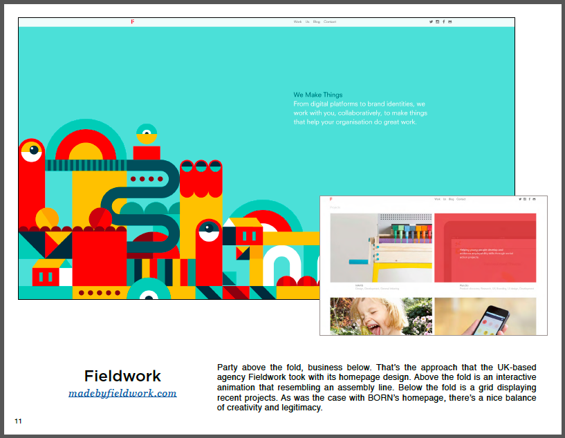 How to Design a Website - 50 Homepage Designs 4