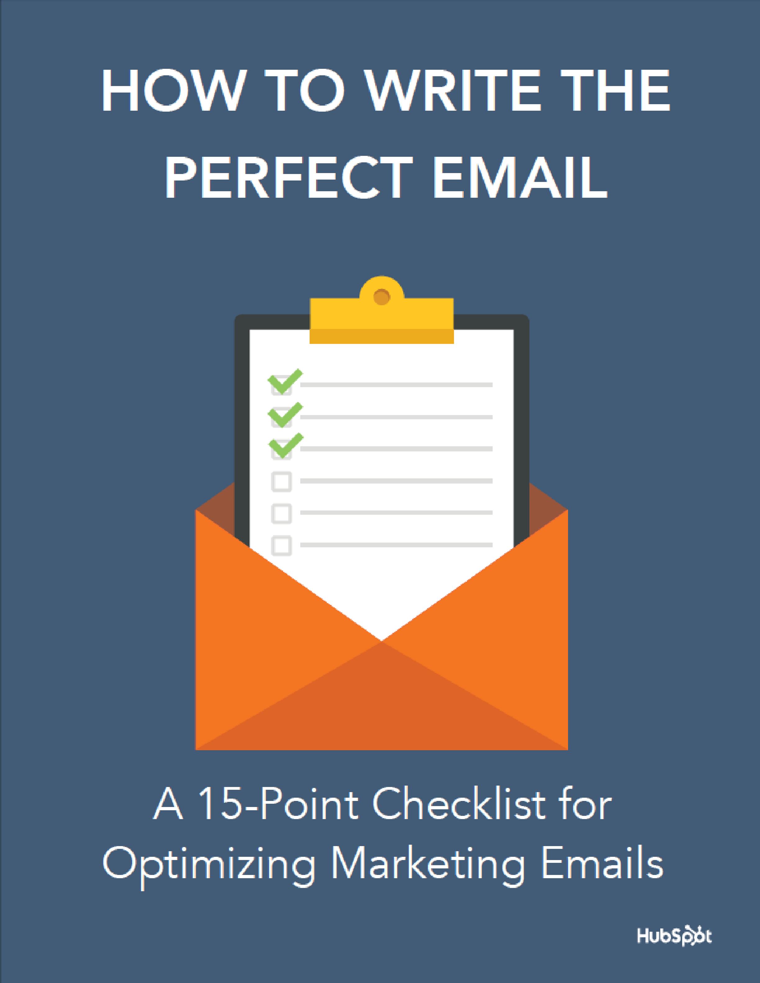 Startup and Entrepreneur Checklist for Optimizing Marketing Emails