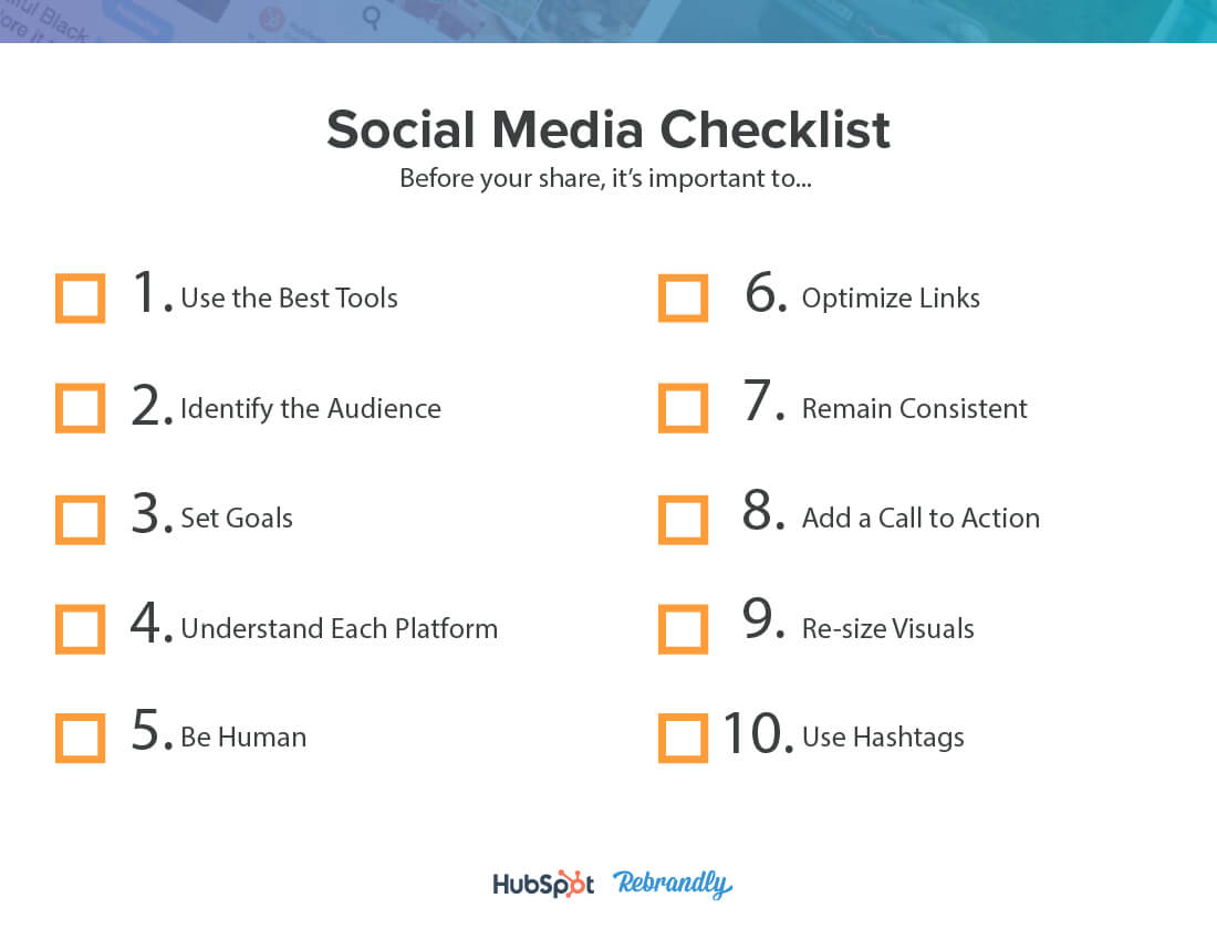 2019 Social Media Checklist 3