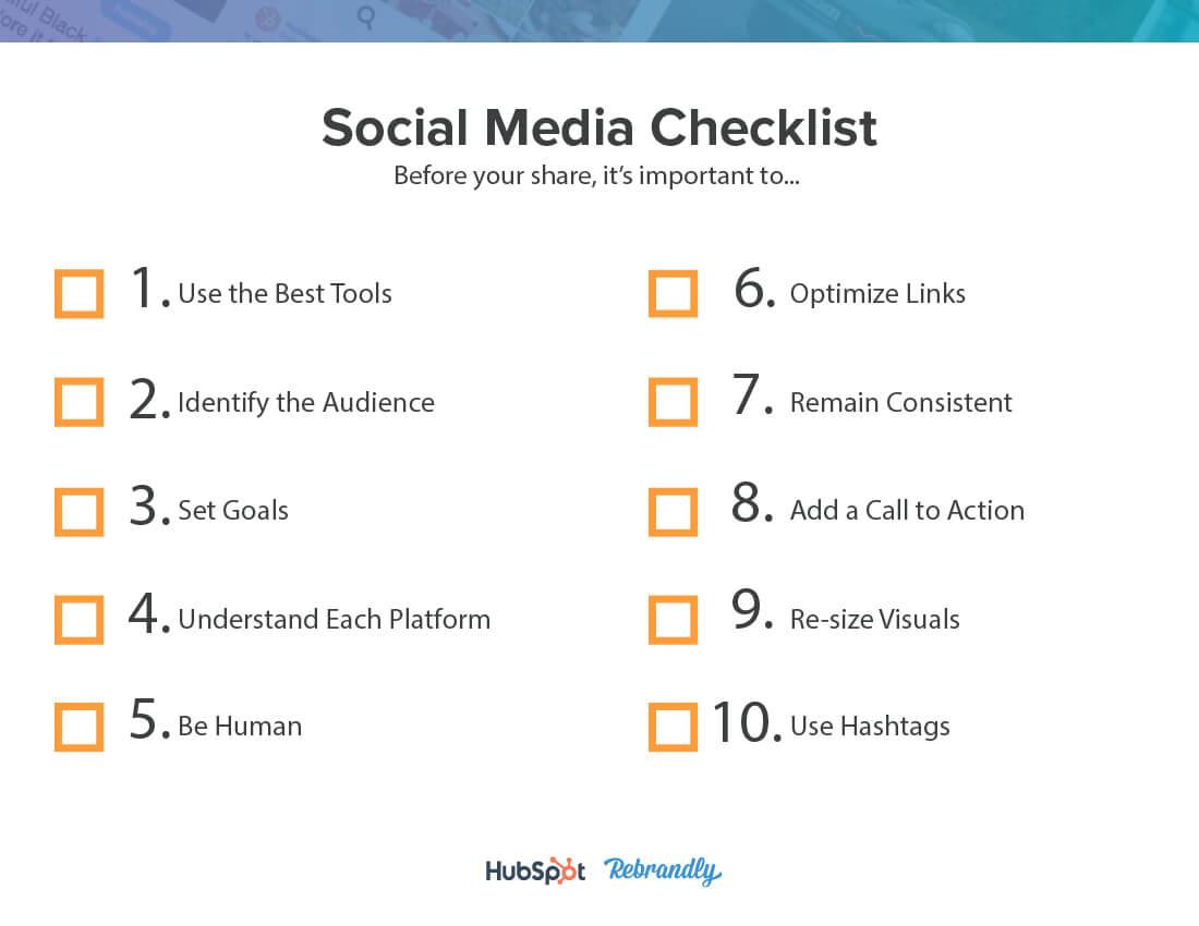 2019 Social Media Checklist 3
