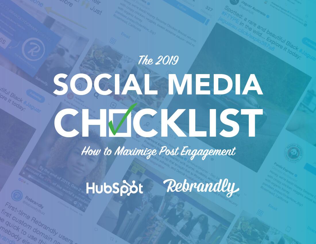 2019 Social Media Checklist 1