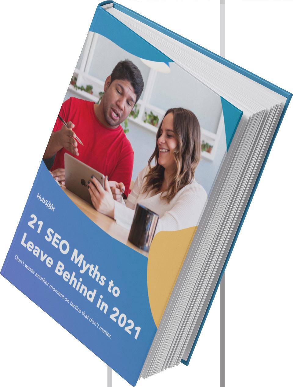 2021 SEO Myths cover