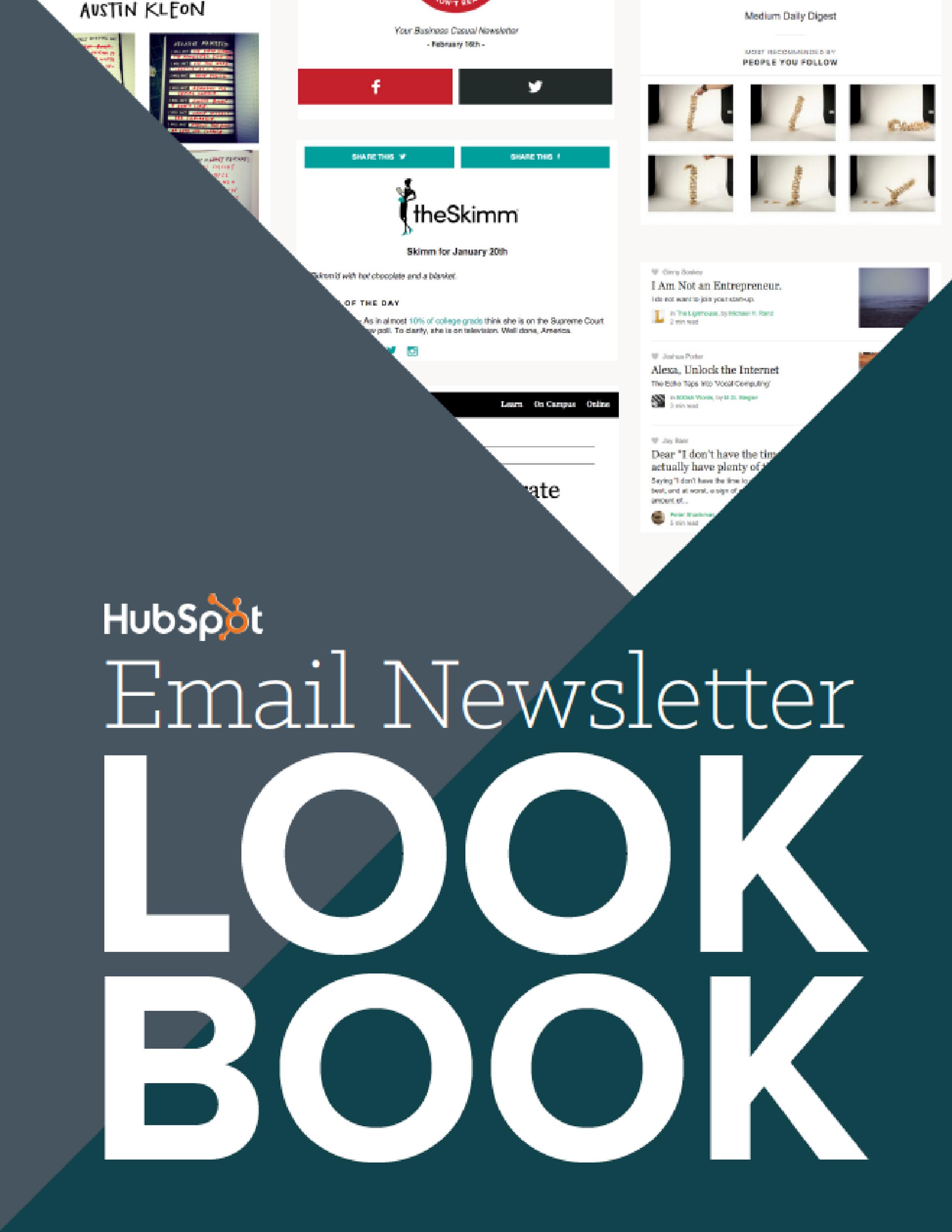 Email newsletter lookbook for startups and entrepreneurs