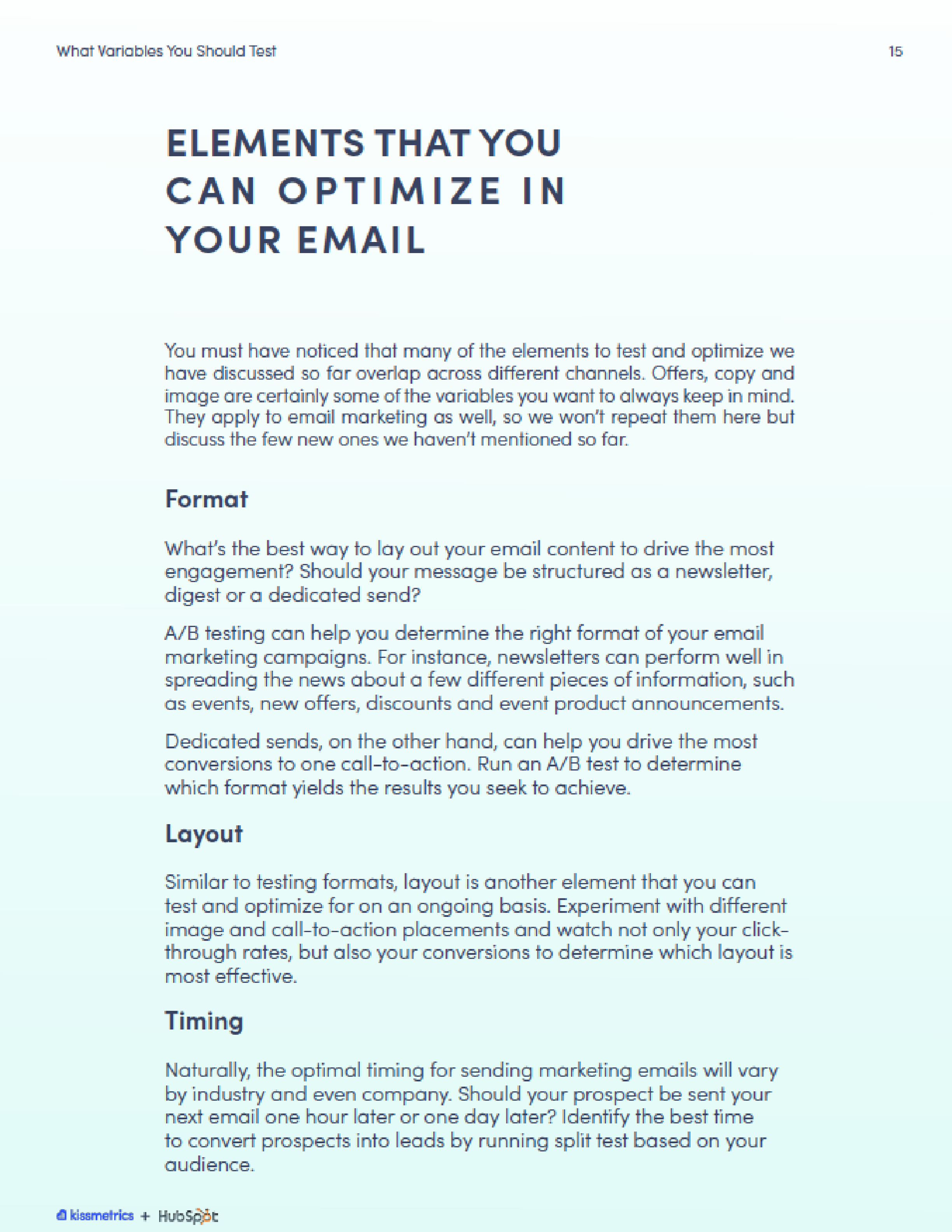 Elements you can optimize in your email