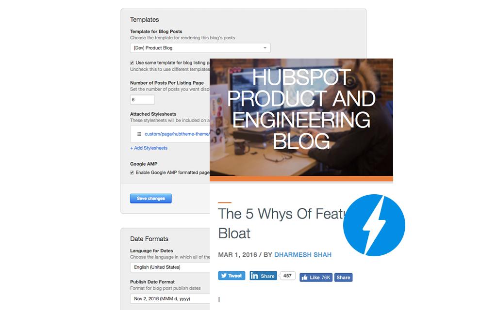AMP your HubSpot Blog