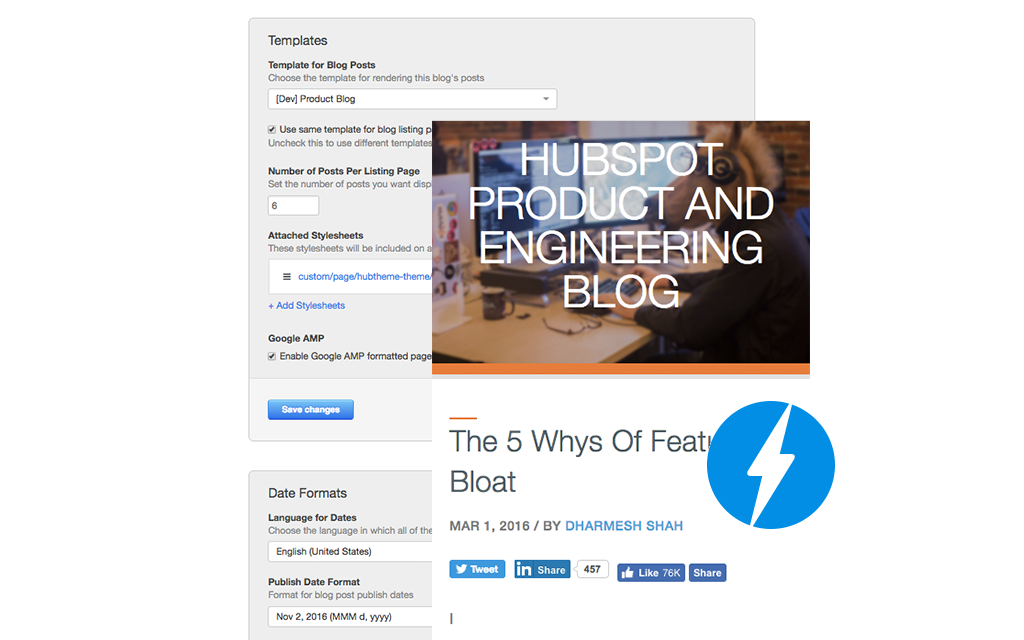 AMP your HubSpot Blog