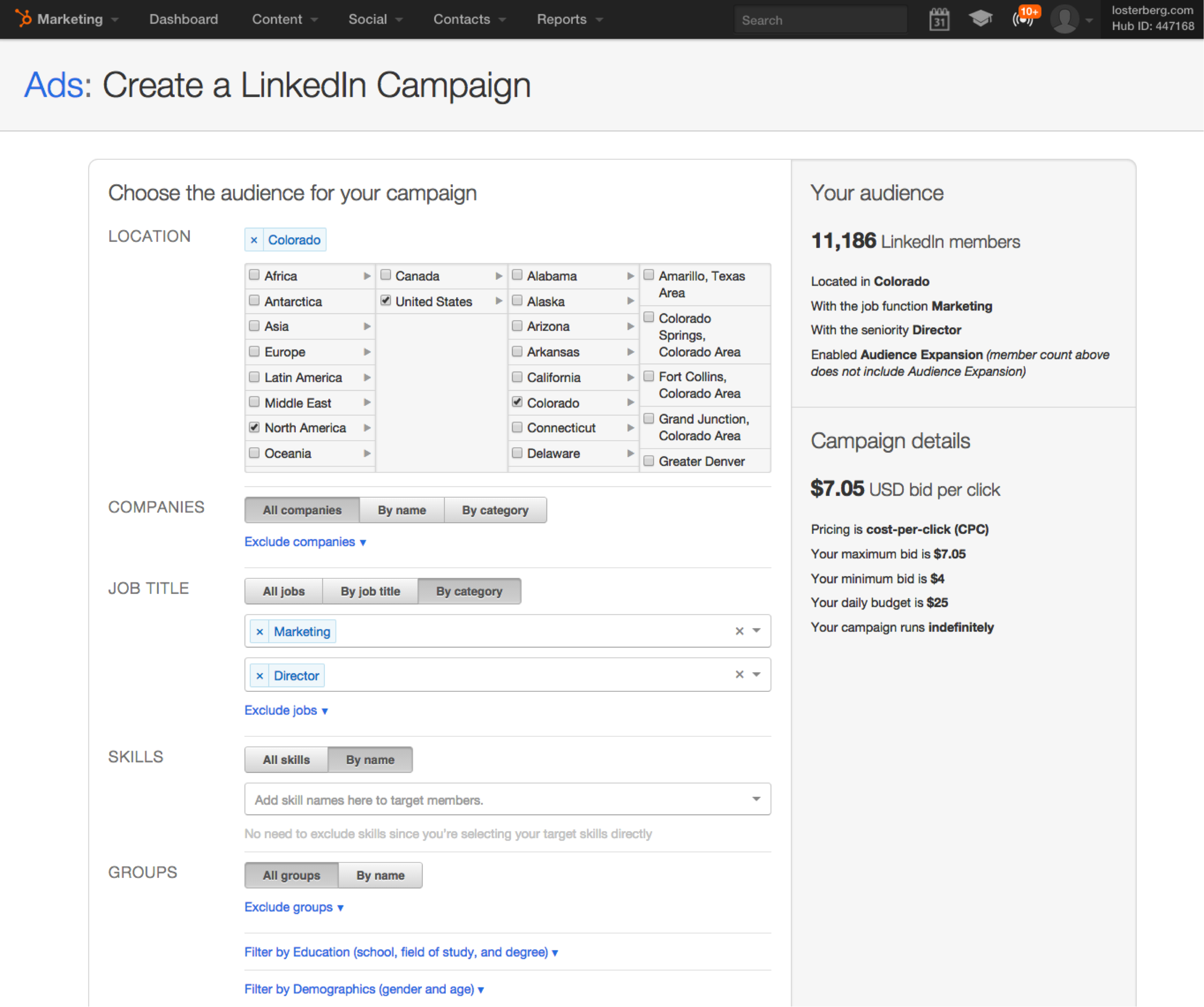 Create Linkedin paid ads with ease