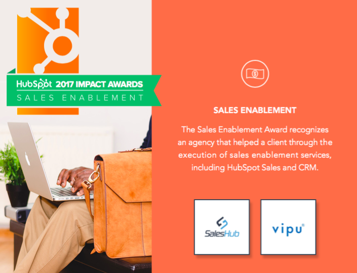 HubSpot Impact Awards Round 1 2017 Winners Sales Enablement