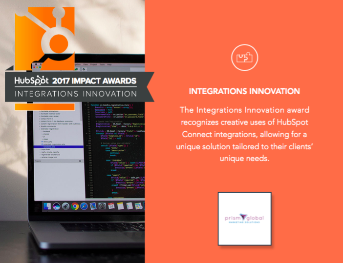 HubSpot Impact Awards Round 1 2017 Winners Integrations Innovation