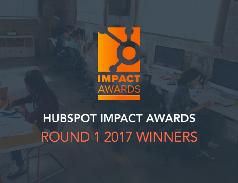 HubSpot Impact Awards Round 1 2017 Winners Cover