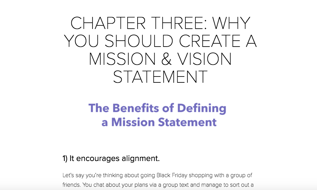 Benefits of Defining a Mission Statement