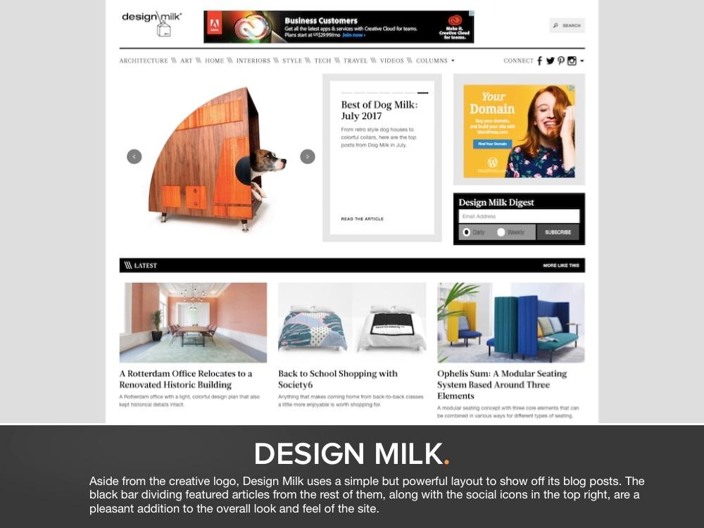 Best Blog Designs blog design lookbook | 38 examples from real brands