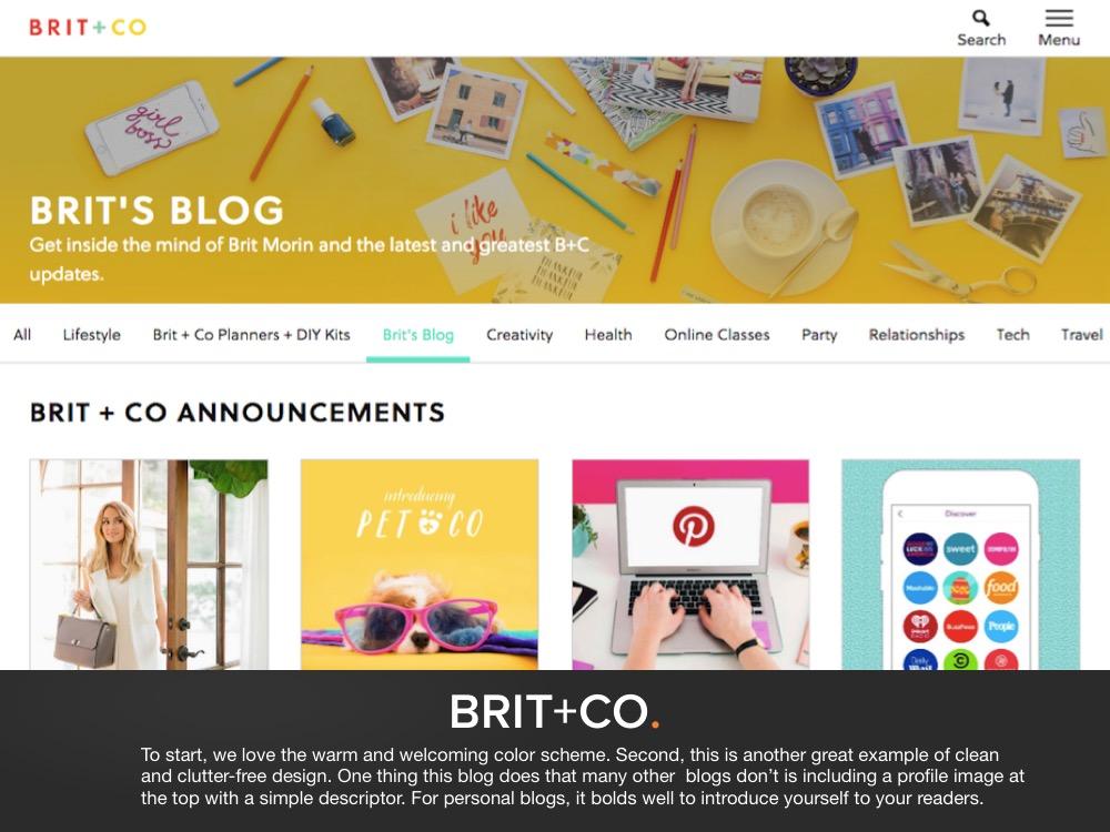 Blog Design Example 3
