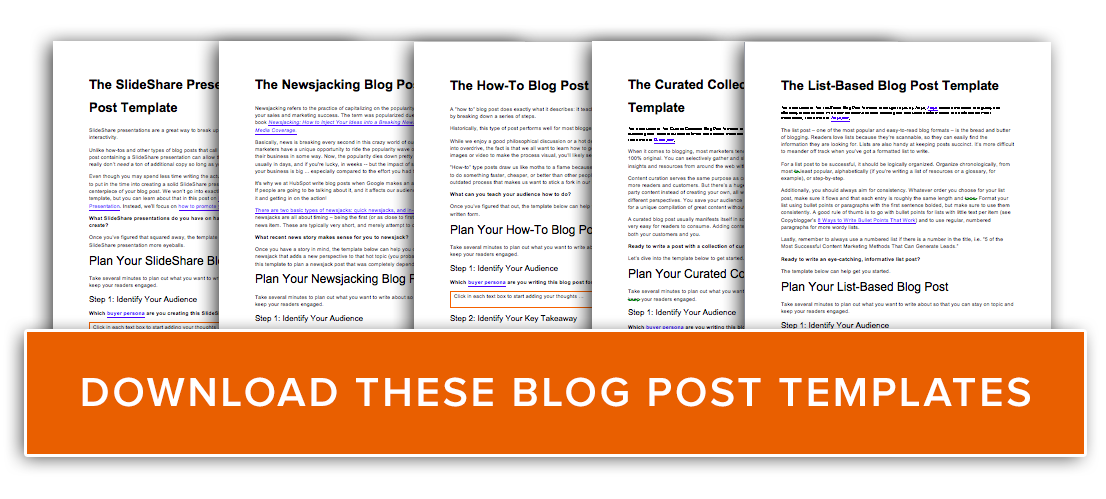 5 Free Blog Post Templates