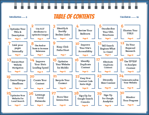 Ebook Table of Contents Preview