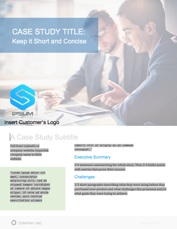 Case Study Offer