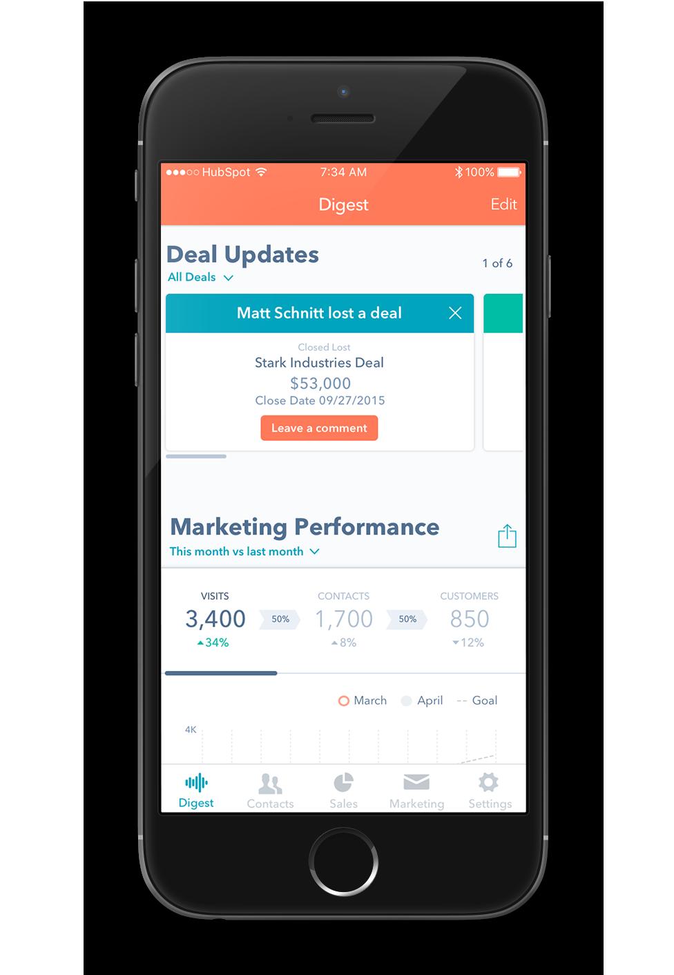 HubSpot's Mobile App