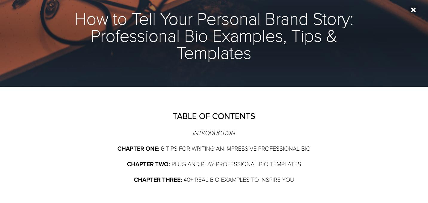 Professional Bio Examples 1