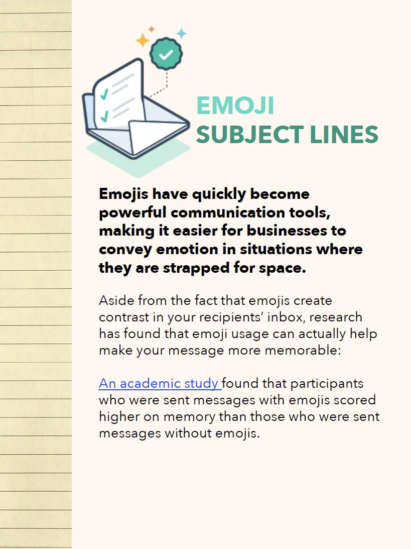 Emoji Subject Lines