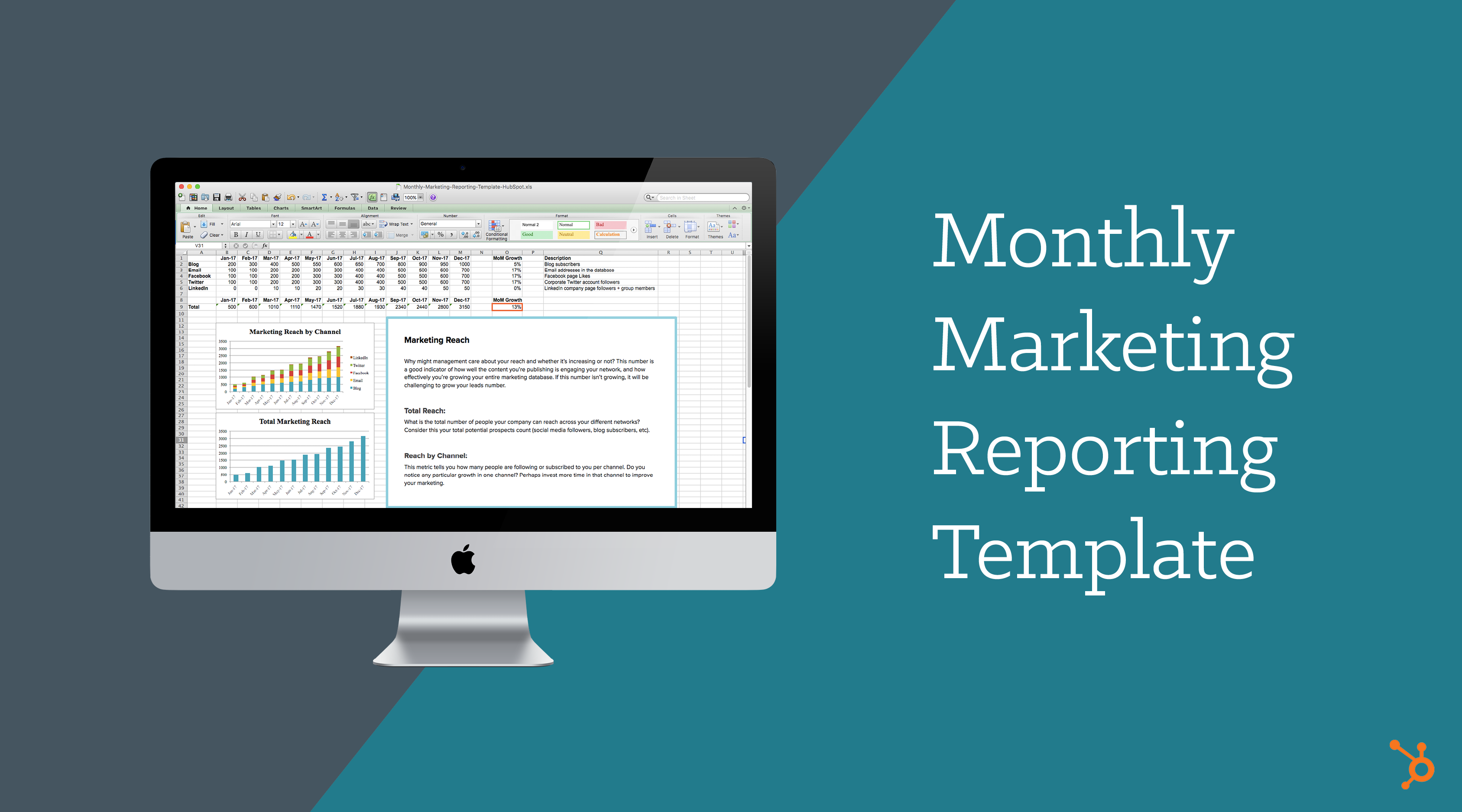 Monthly Marketing Reporting Template | Free Download