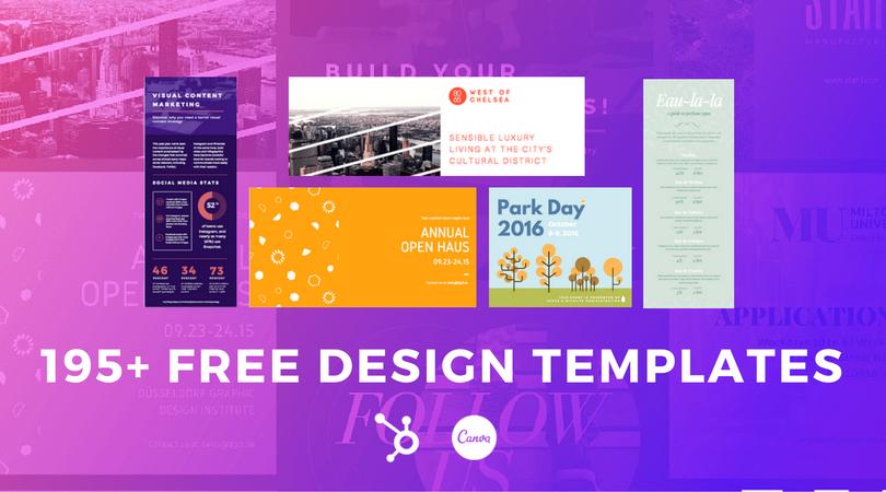 195 visual marketing design templates hubspot canva