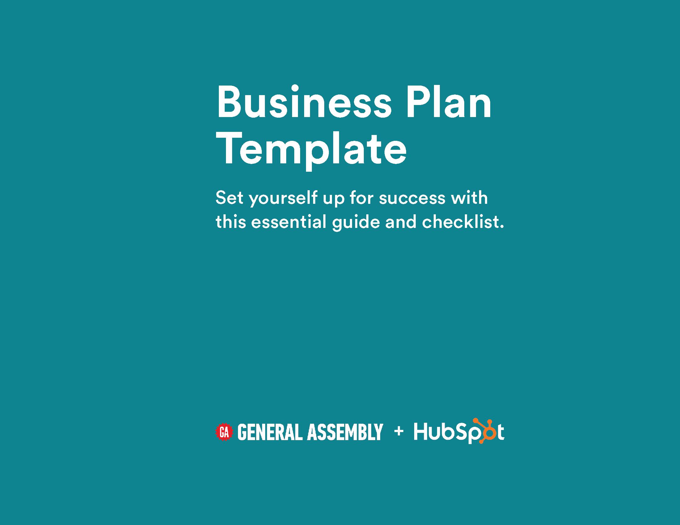 Business plan template hubspot general assembly business plan template preview flashek Gallery