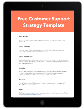 customer-support-planning-template
