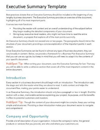 executive-summary-templates