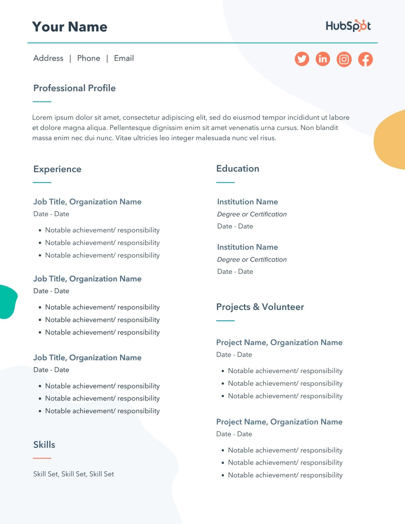 Free Marketing Resume Templates 10 Samples For Download