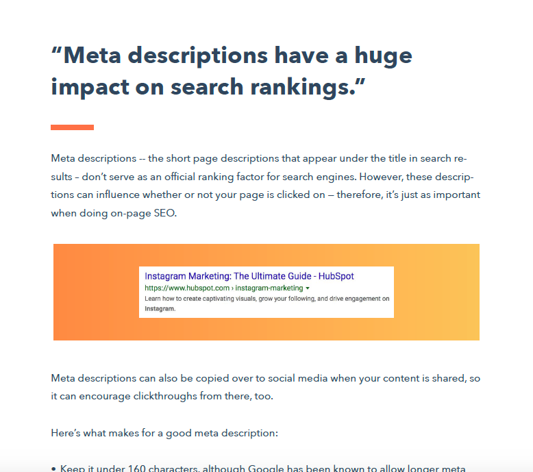 SEO Myths 2020 Meta Descriptions