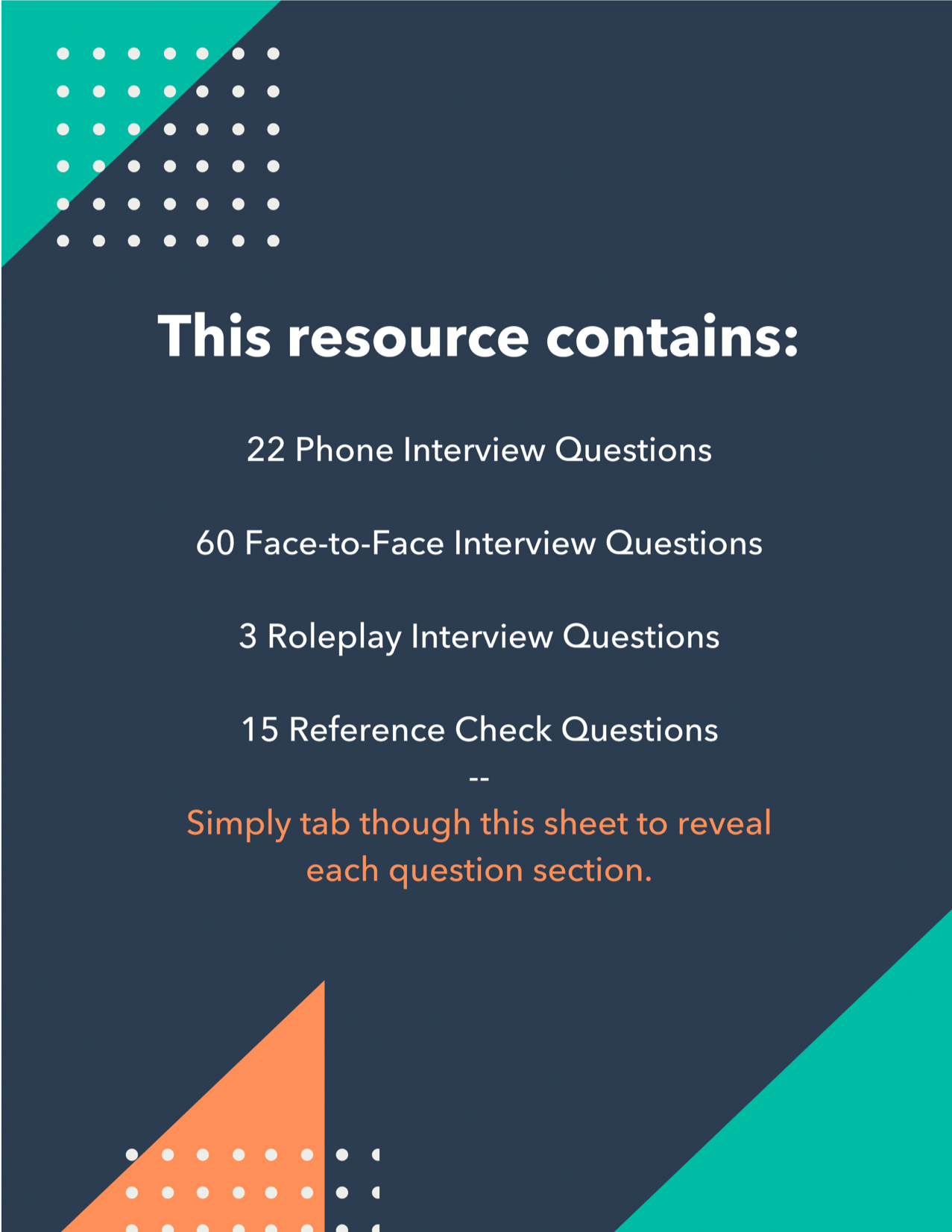 Interview Questions Table of Contents