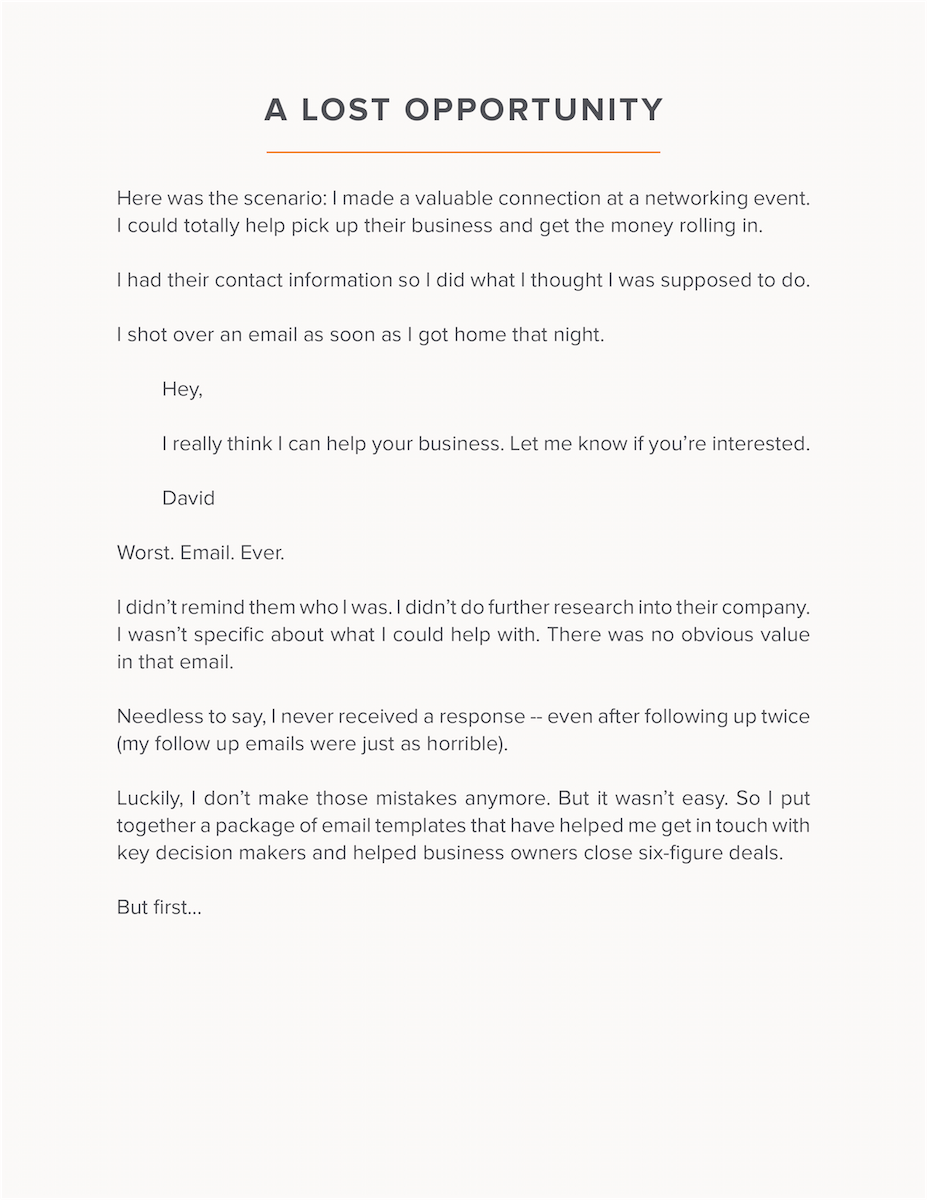 follow up email template for business