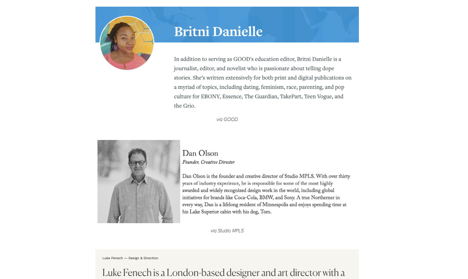 Professional Bio Examples