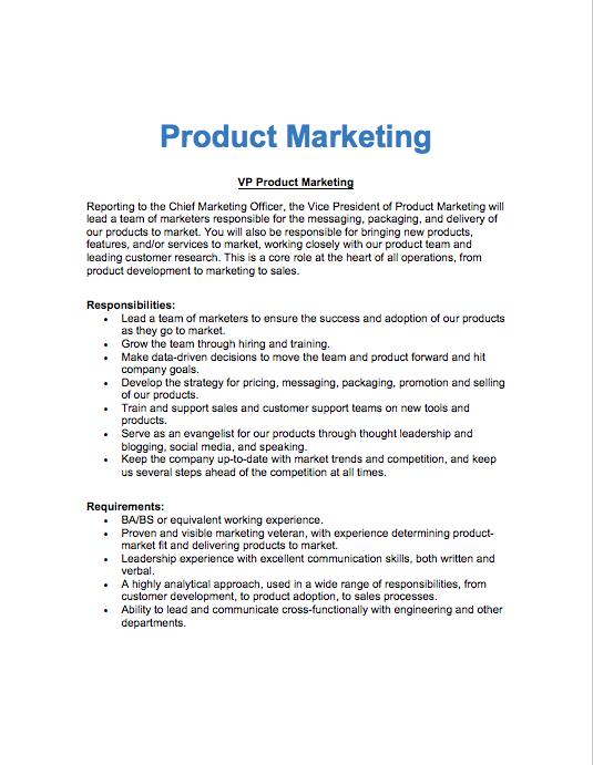 Product Mktg