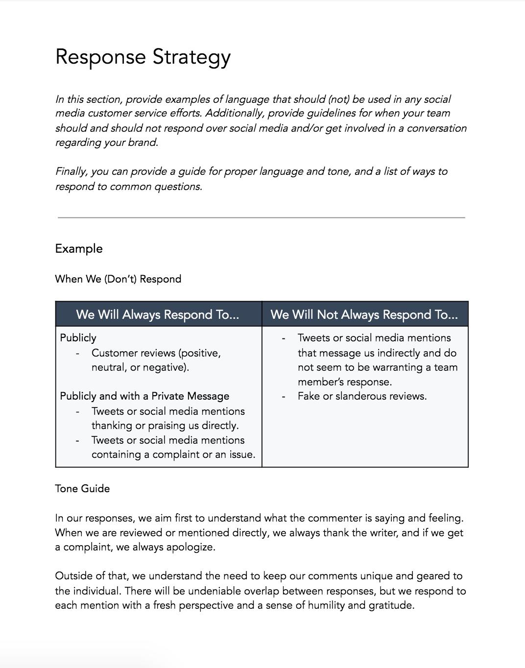 response strategy