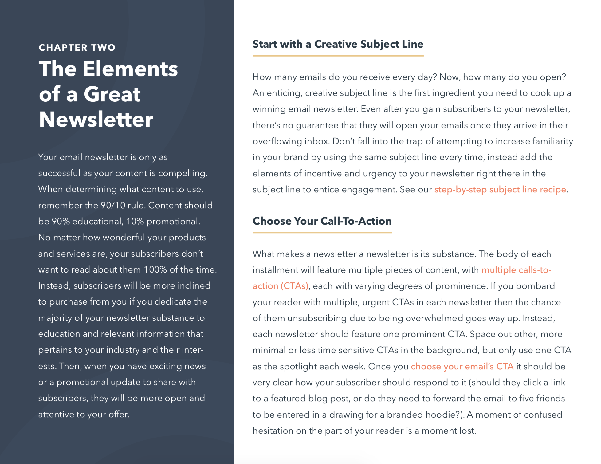 email newsletter elements