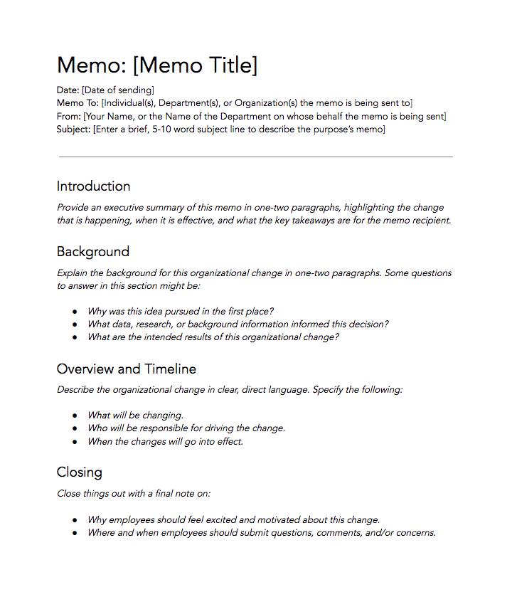 free memo template