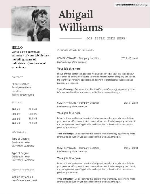 designed resume template