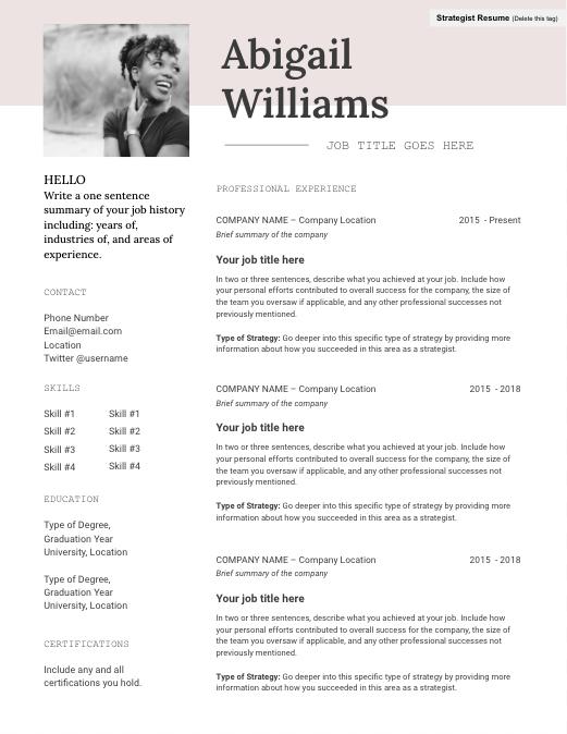 designed resume template