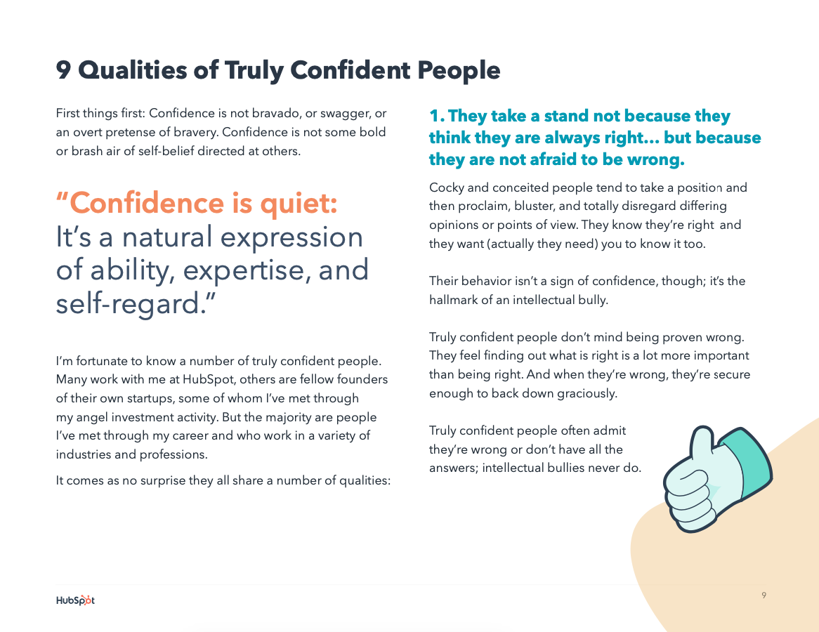9 qualities of truly confident people
